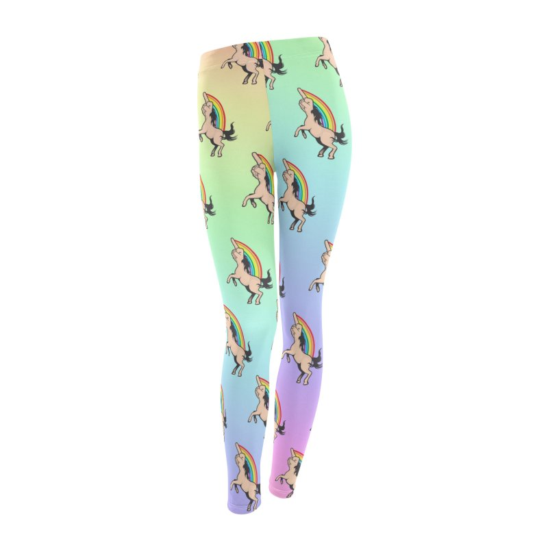 Fuckunicorn Women's Leggings Bottoms by I am a graphic designer