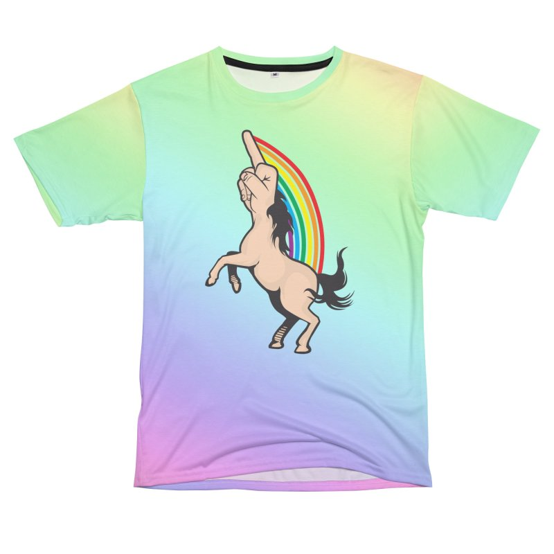 Fuckunicorn Women's Unisex T-Shirt Cut & Sew by I am a graphic designer