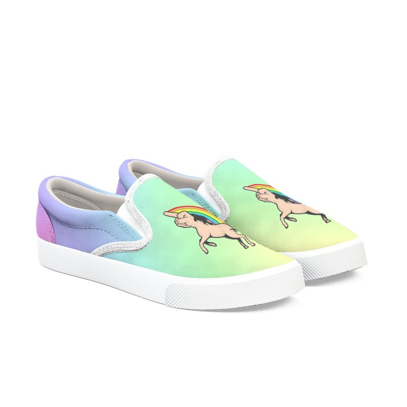 Fuckunicorn Men's Slip-On Shoes by I am a graphic designer