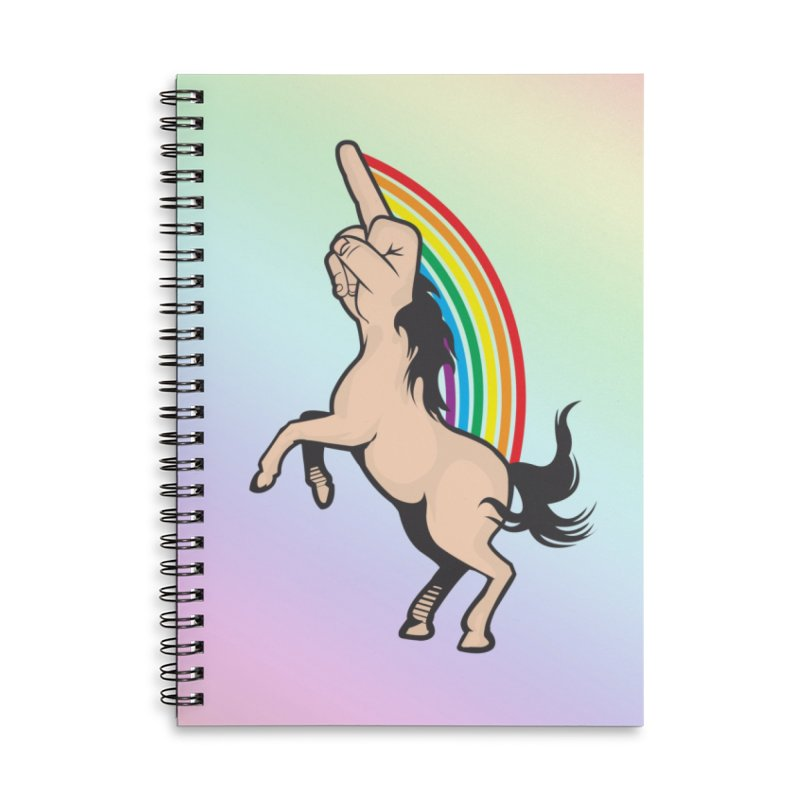 Fuckunicorn Accessories Lined Spiral Notebook by I am a graphic designer