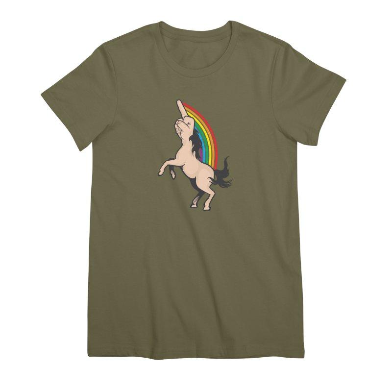 Fuckunicorn Women's Premium T-Shirt by I am a graphic designer