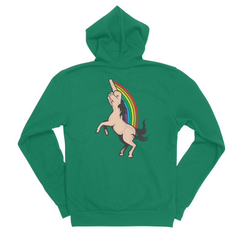 Fuckunicorn Men's Sponge Fleece Zip-Up Hoody by I am a graphic designer