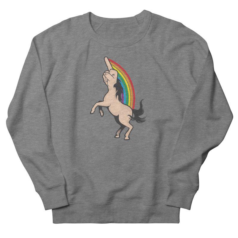 Fuckunicorn Men's French Terry Sweatshirt by I am a graphic designer