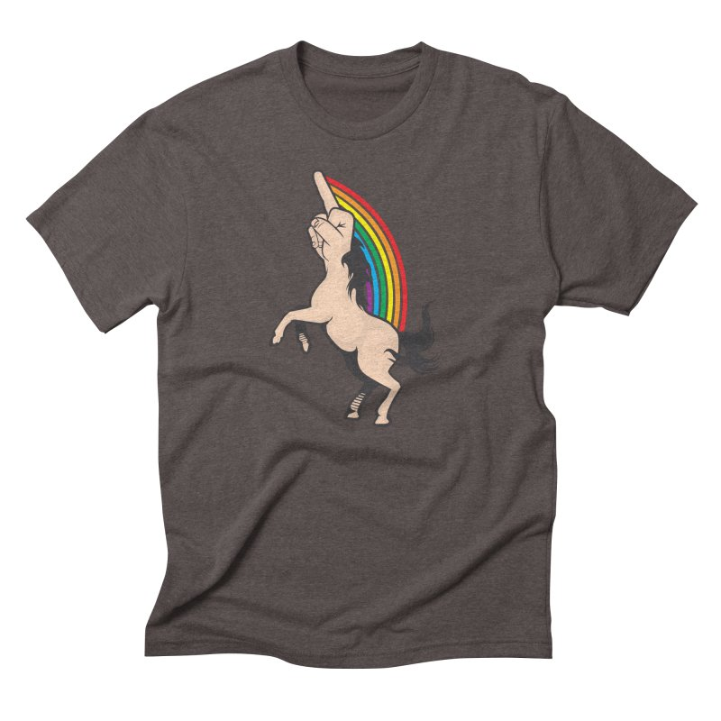Fuckunicorn Men's Triblend T-Shirt by I am a graphic designer