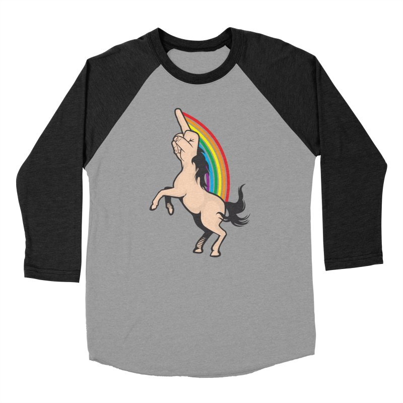Fuckunicorn Women's Baseball Triblend Longsleeve T-Shirt by I am a graphic designer