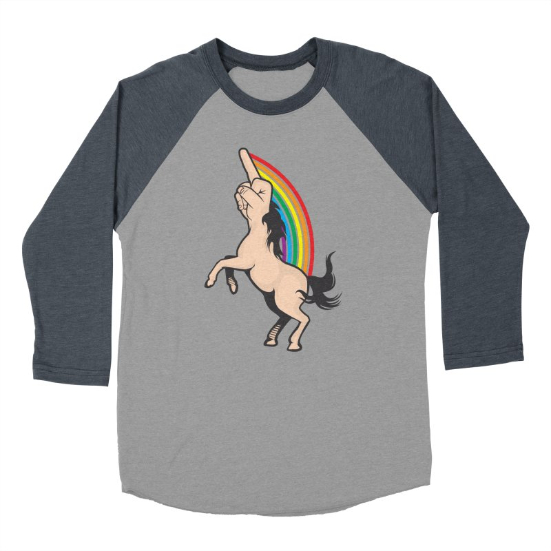 Fuckunicorn Men's Baseball Triblend Longsleeve T-Shirt by I am a graphic designer
