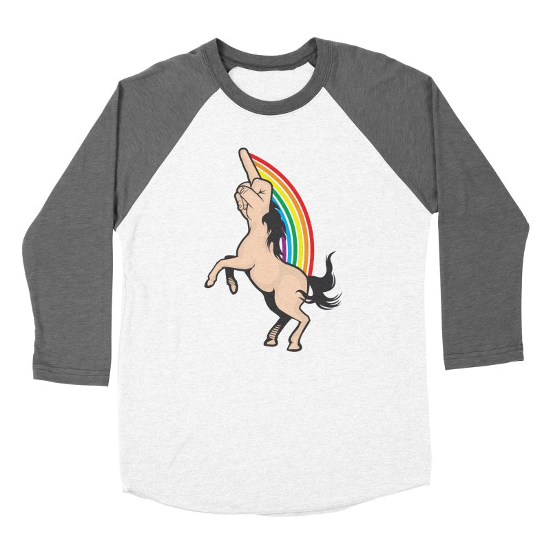 Fuckunicorn Men's Baseball Triblend Longsleeve T-Shirt by I am a graphic designer