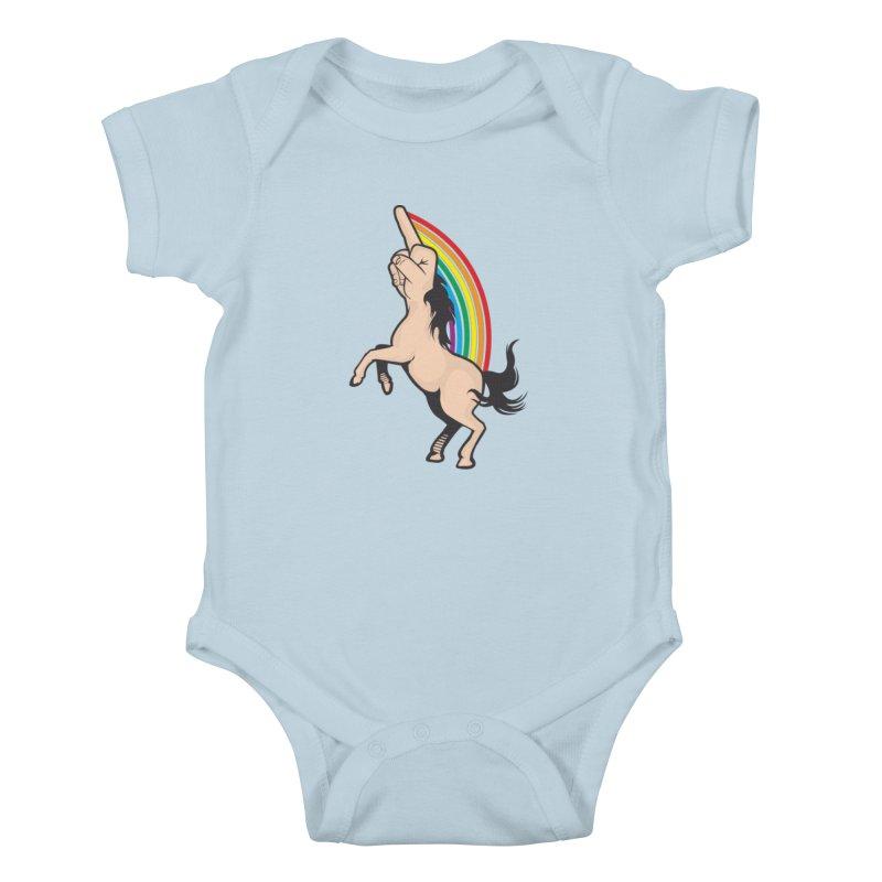 Fuckunicorn Kids Baby Bodysuit by I am a graphic designer