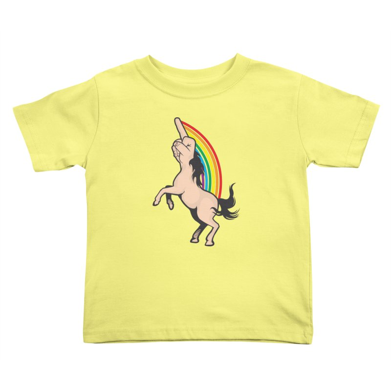 Fuckunicorn Kids Toddler T-Shirt by I am a graphic designer