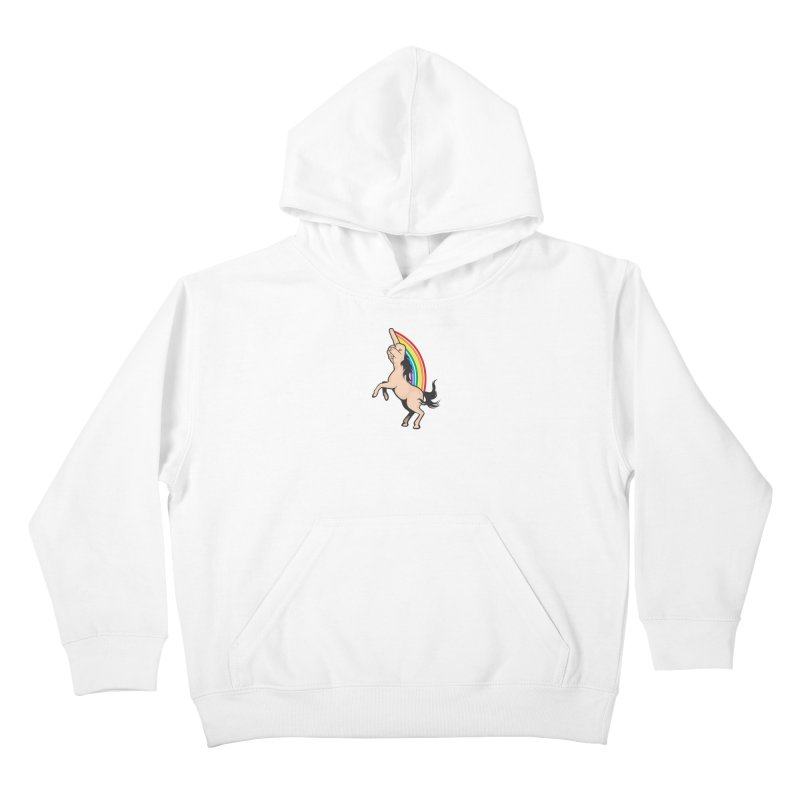 Fuckunicorn Kids Pullover Hoody by I am a graphic designer