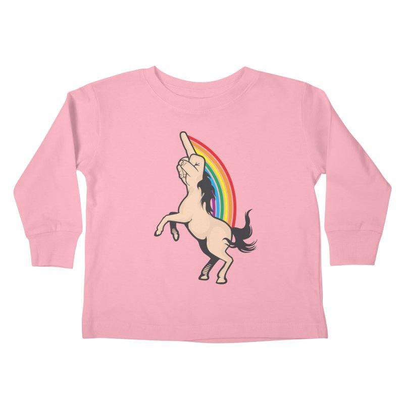 Fuckunicorn Kids Toddler Longsleeve T-Shirt by I am a graphic designer