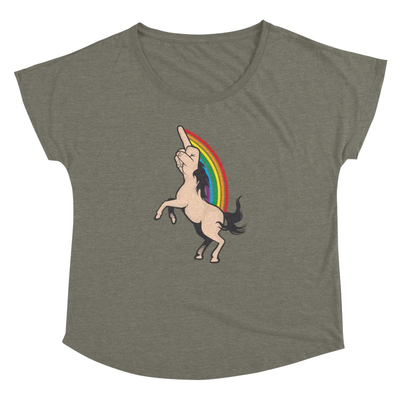 Fuckunicorn Women's Dolman Scoop Neck by I am a graphic designer