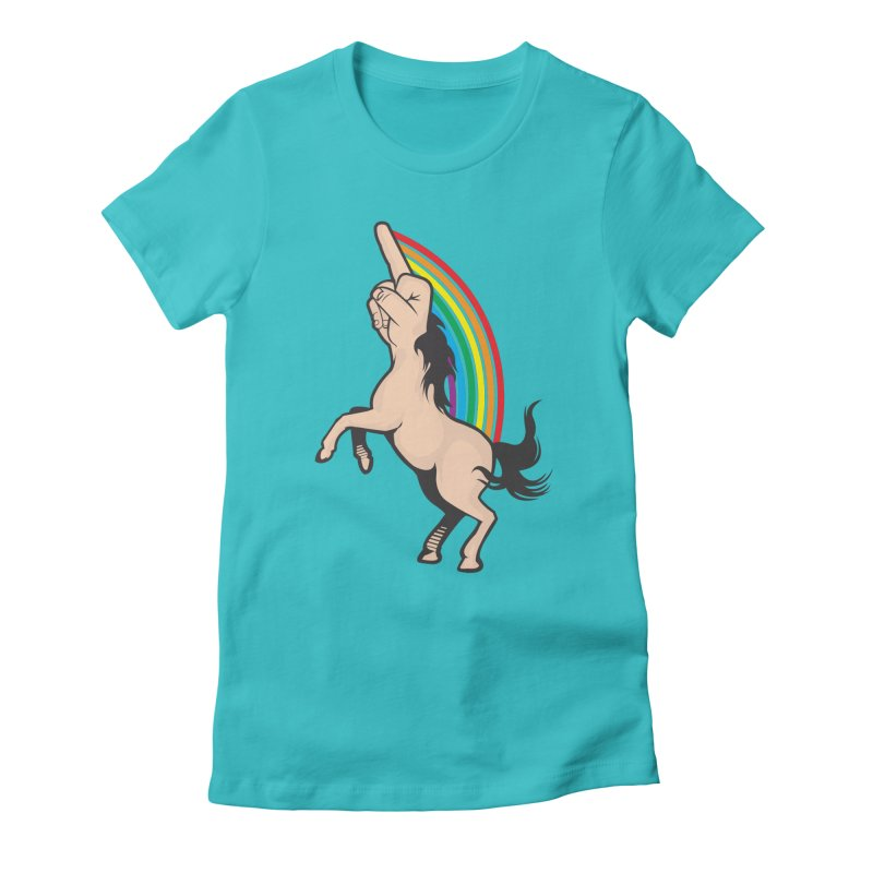 Fuckunicorn Women's Fitted T-Shirt by I am a graphic designer