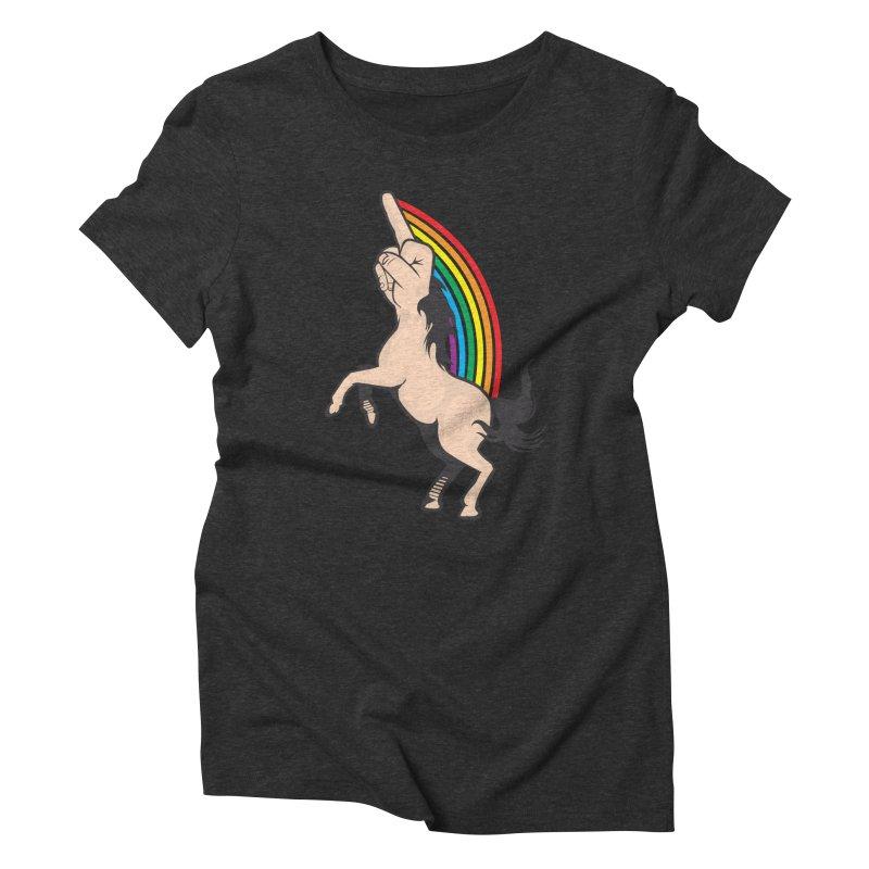 Fuckunicorn Women's Triblend T-Shirt by I am a graphic designer