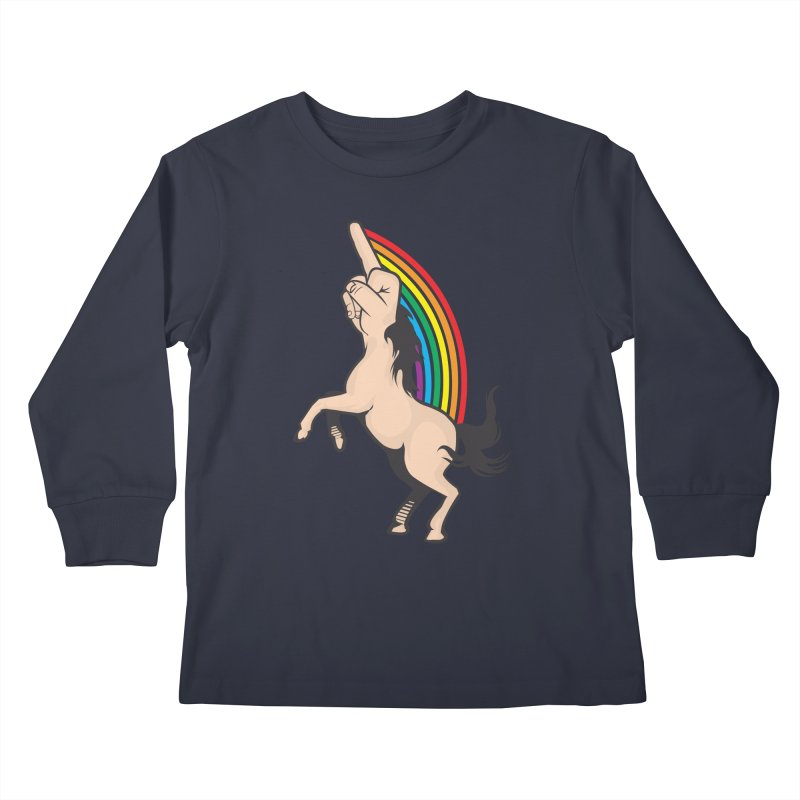 Fuckunicorn Kids Longsleeve T-Shirt by I am a graphic designer