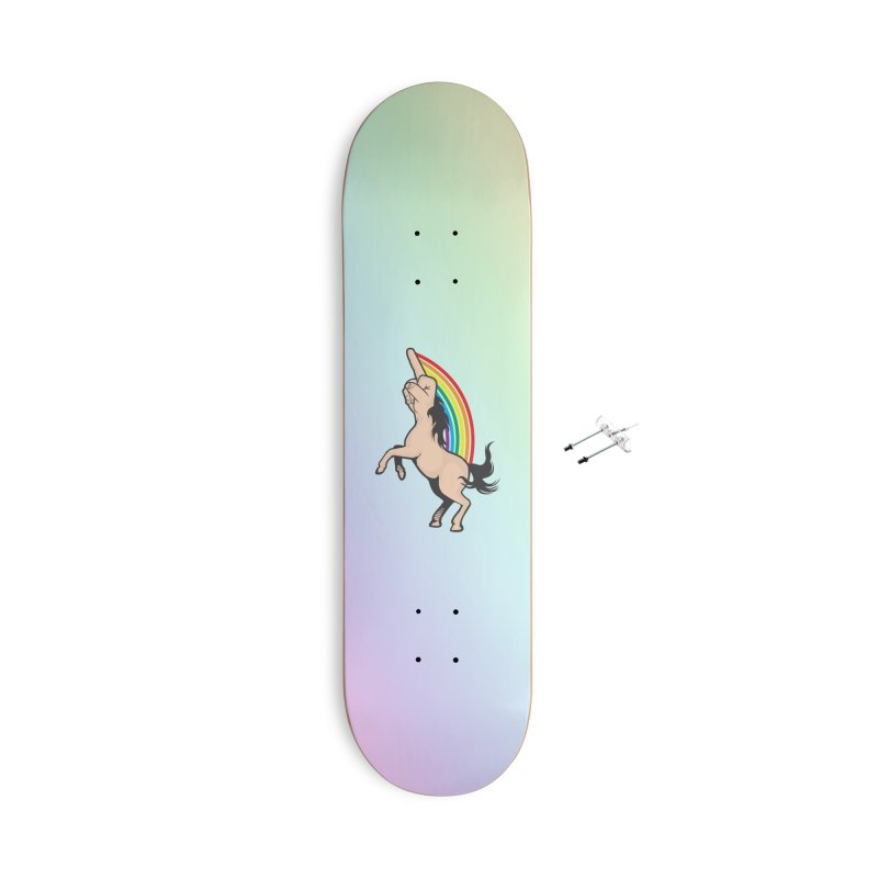 Fuckunicorn Accessories With Hanging Hardware Skateboard by I am a graphic designer