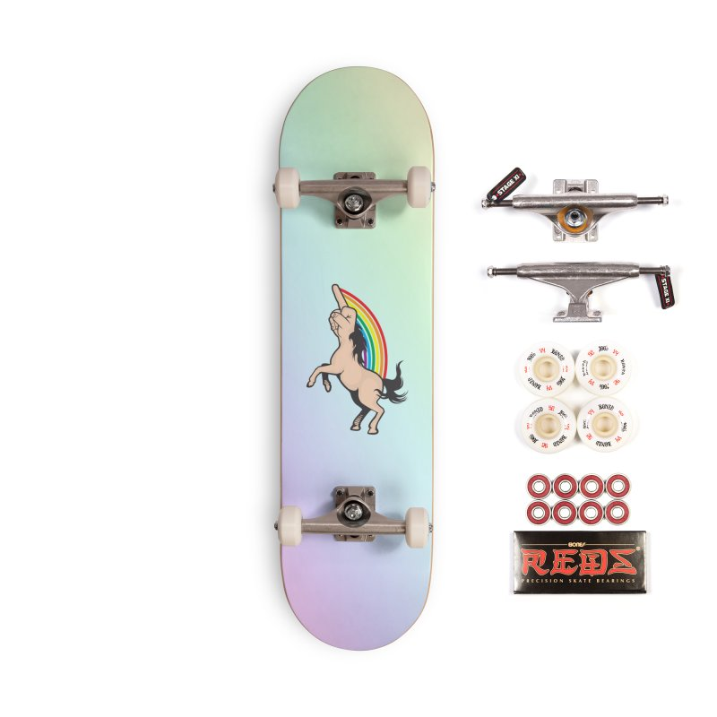 Fuckunicorn Accessories Complete - Pro Skateboard by I am a graphic designer