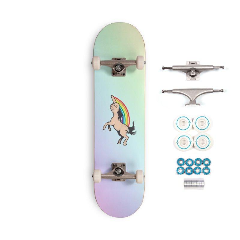 Fuckunicorn Accessories Complete - Basic Skateboard by I am a graphic designer