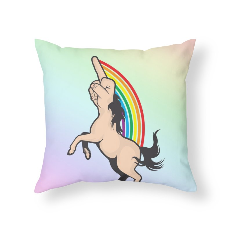 Fuckunicorn Home Throw Pillow by I am a graphic designer
