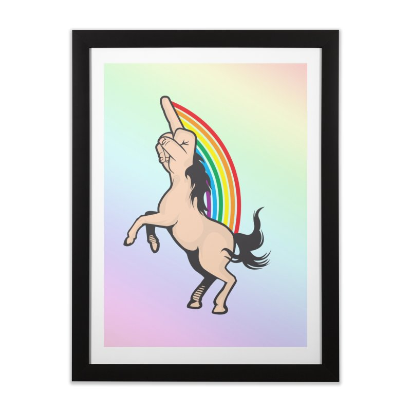 Fuckunicorn Home Framed Fine Art Print by I am a graphic designer