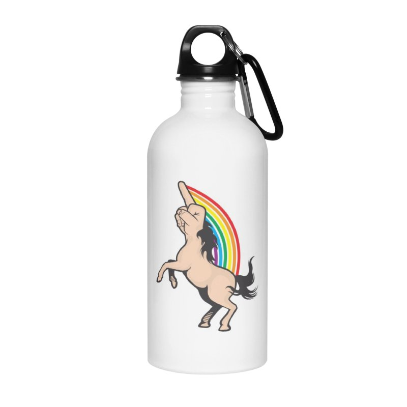 Fuckunicorn Accessories Water Bottle by I am a graphic designer