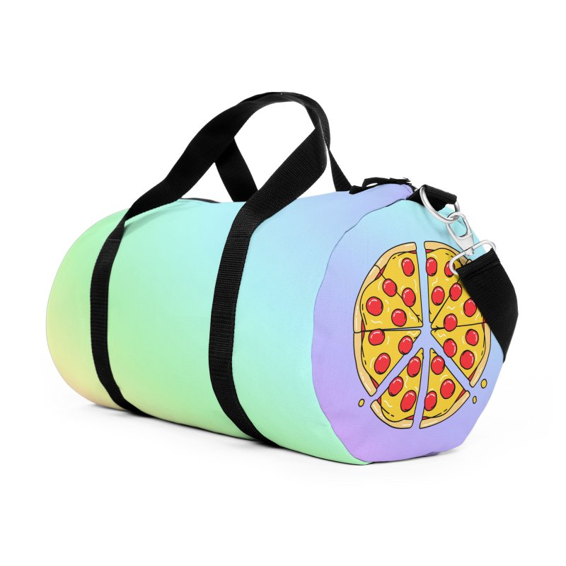 Give Pizza Chance Accessories Duffel Bag Bag by I am a graphic designer