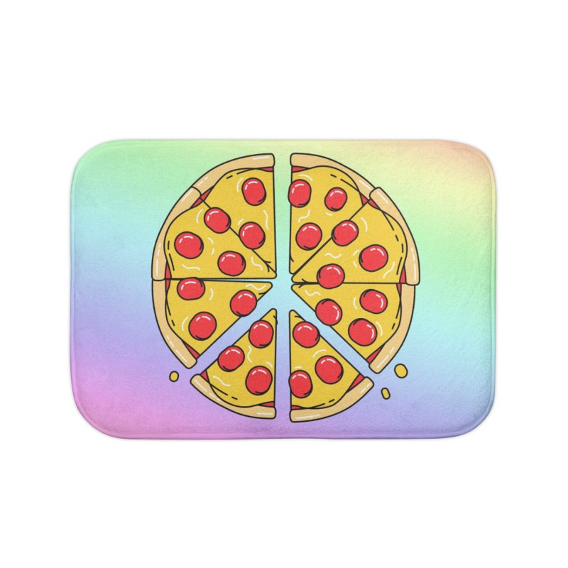 Give Pizza Chance Home Bath Mat by I am a graphic designer