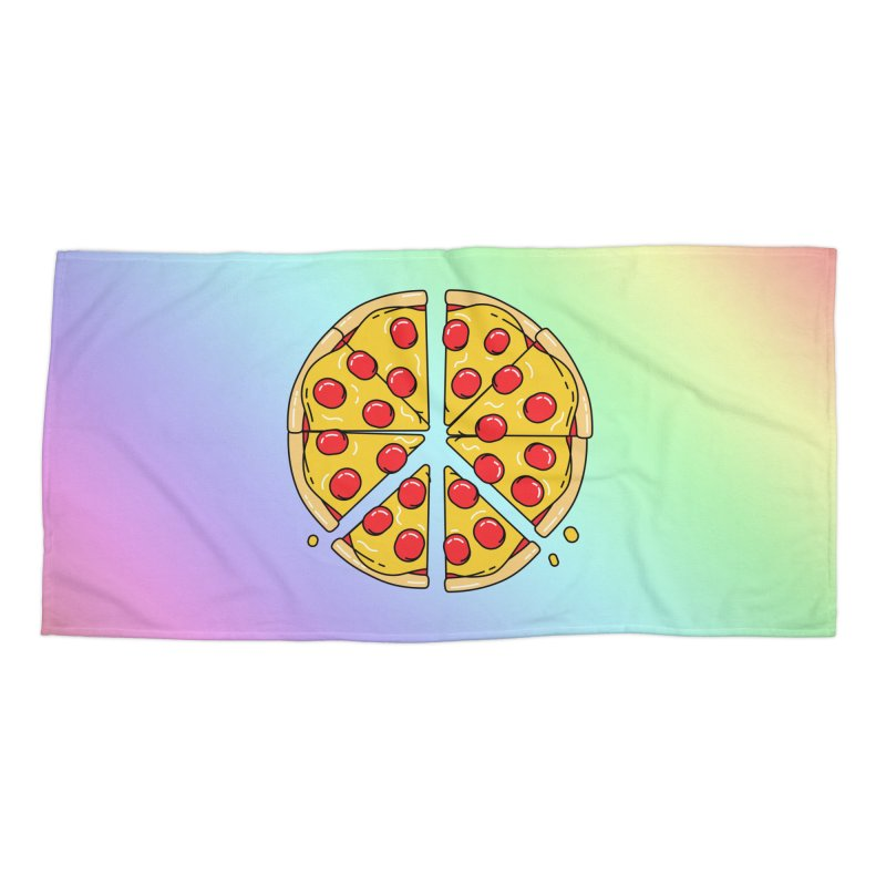Give Pizza Chance Accessories Beach Towel by I am a graphic designer