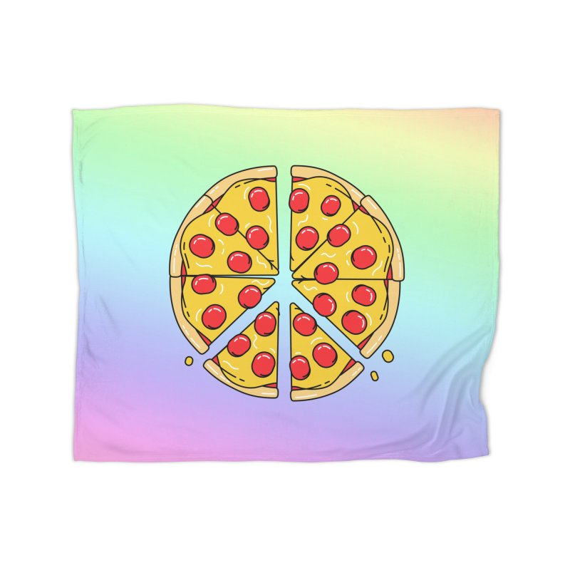 Give Pizza Chance Home Fleece Blanket Blanket by I am a graphic designer