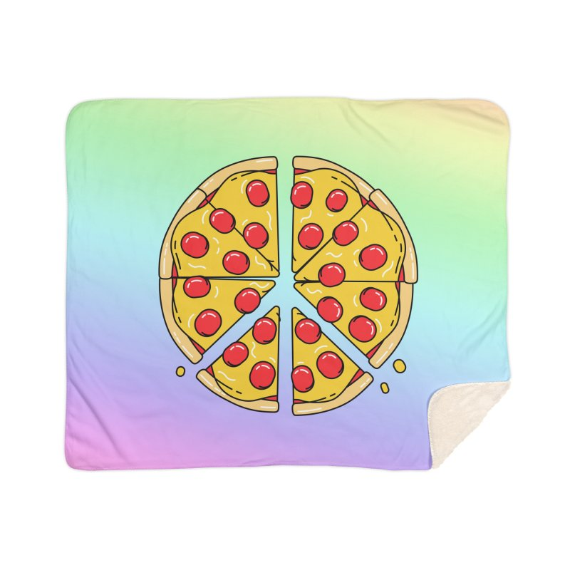 Give Pizza Chance Home Blanket by I am a graphic designer