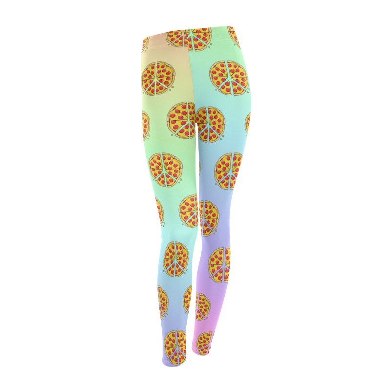 Give Pizza Chance Women's Leggings Bottoms by I am a graphic designer