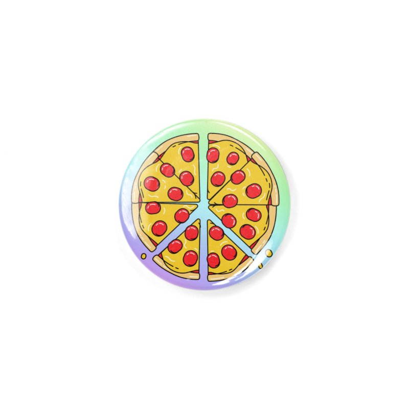 Give Pizza Chance Accessories Button by I am a graphic designer