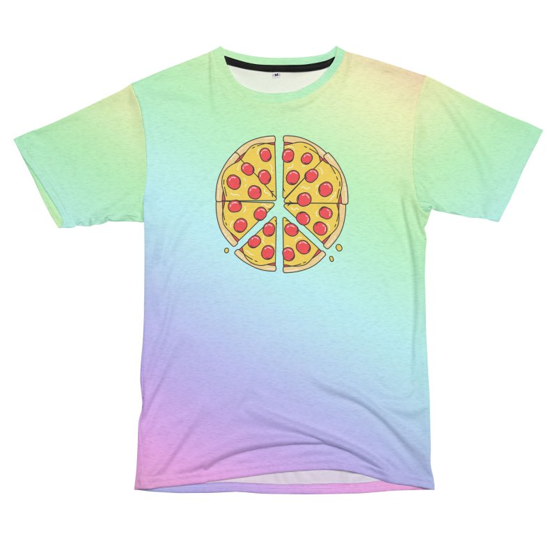 Give Pizza Chance Women's Unisex French Terry T-Shirt Cut & Sew by I am a graphic designer
