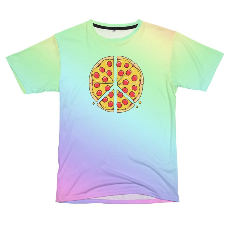 Give Pizza Chance Women's Unisex T-Shirt Cut & Sew by I am a graphic designer