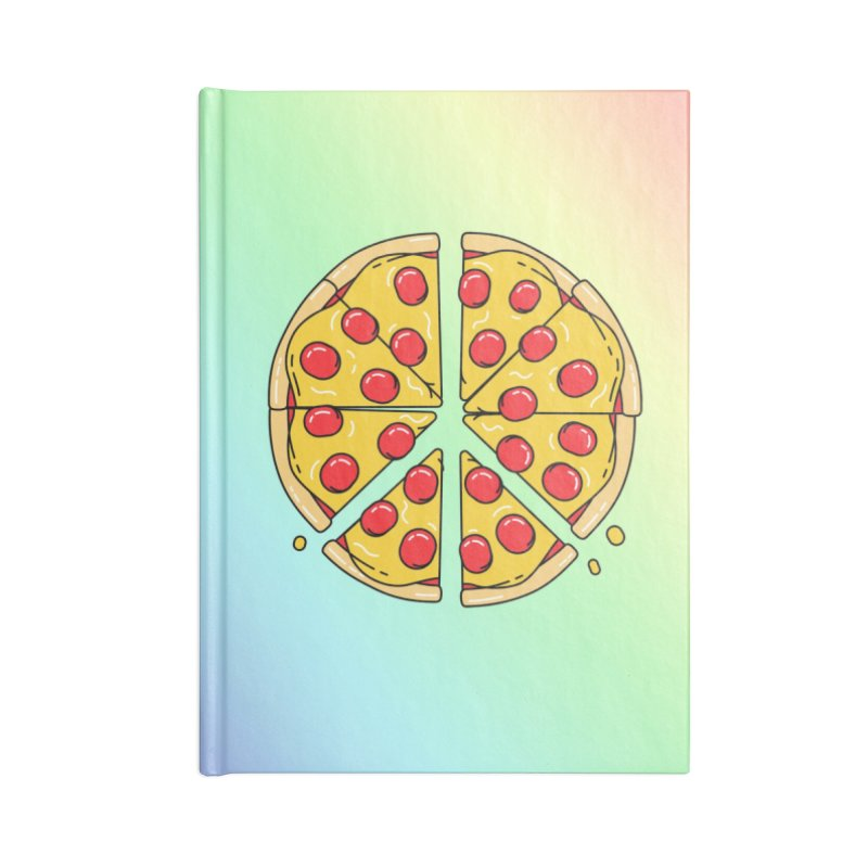 Give Pizza Chance Accessories Blank Journal Notebook by I am a graphic designer