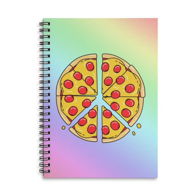 Give Pizza Chance Accessories Lined Spiral Notebook by I am a graphic designer