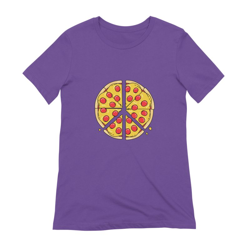 Give Pizza Chance Women's Extra Soft T-Shirt by I am a graphic designer