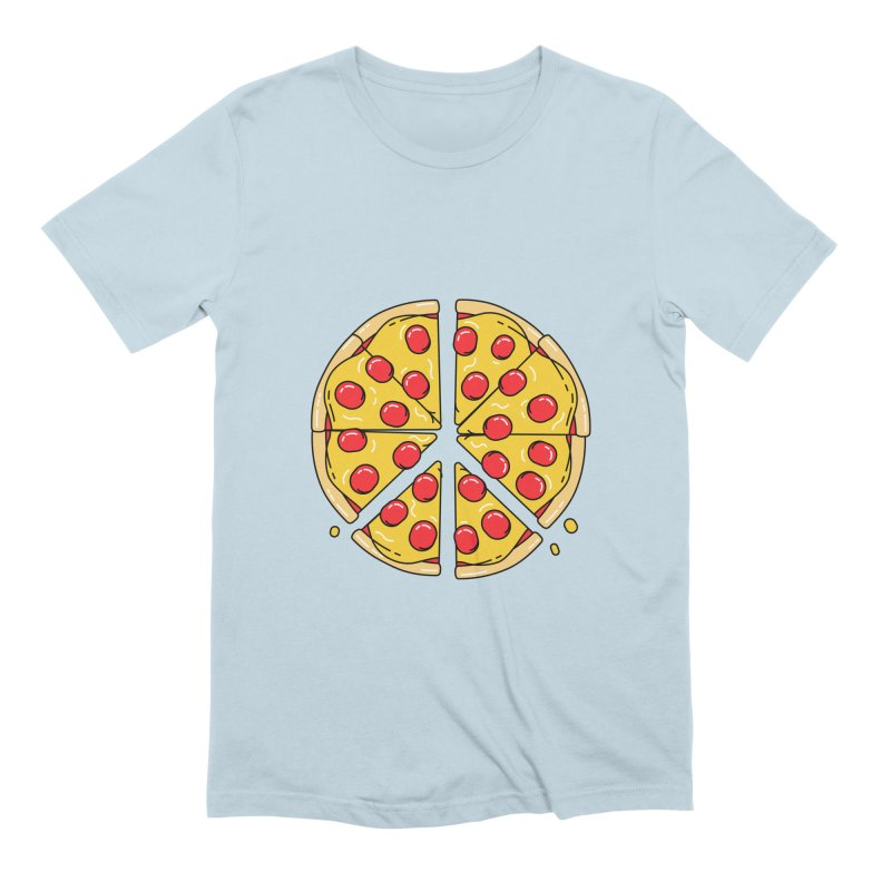 Give Pizza Chance Men's Extra Soft T-Shirt by I am a graphic designer