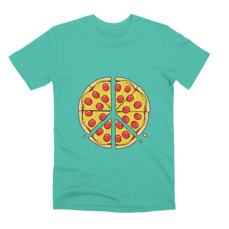 Give Pizza Chance Men's Premium T-Shirt by I am a graphic designer