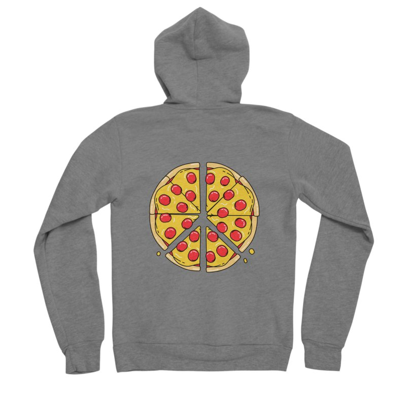 Give Pizza Chance Men's Sponge Fleece Zip-Up Hoody by I am a graphic designer