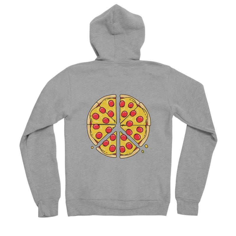 Give Pizza Chance Women's Sponge Fleece Zip-Up Hoody by I am a graphic designer