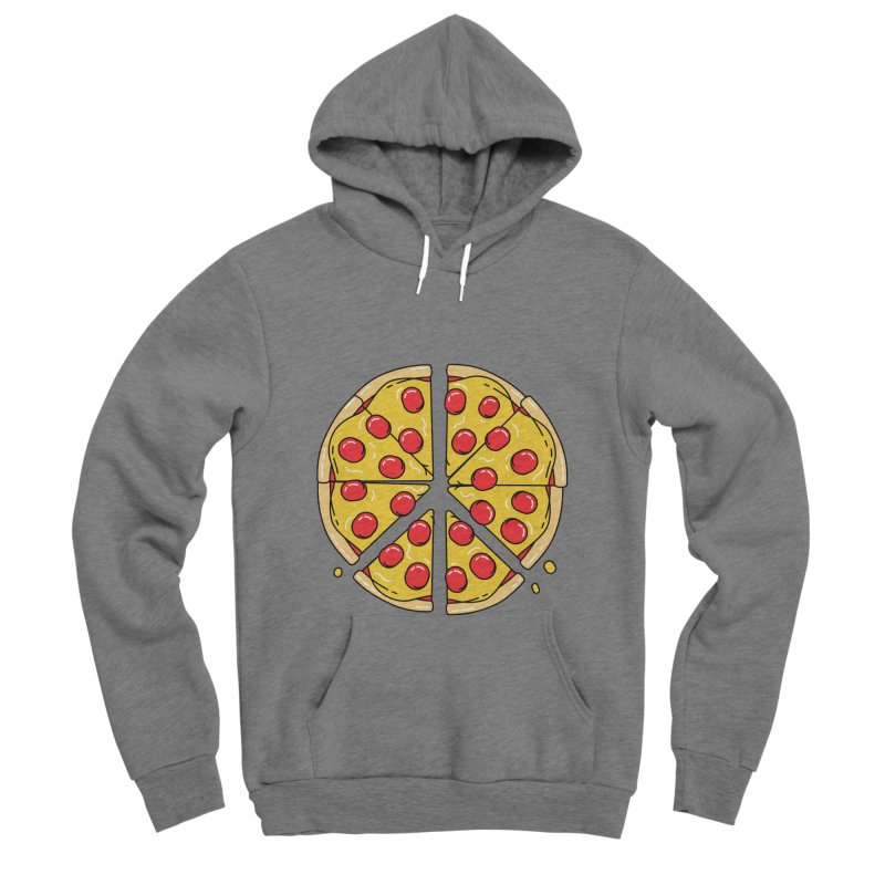 Give Pizza Chance Women's Sponge Fleece Pullover Hoody by I am a graphic designer