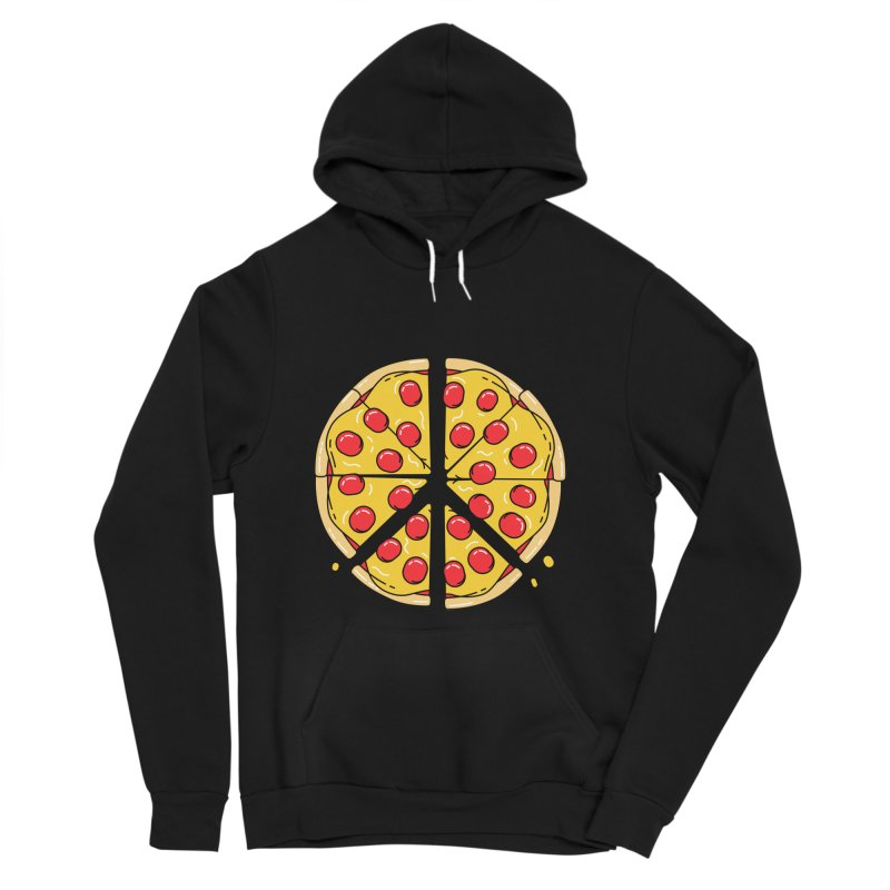 Give Pizza Chance Men's Sponge Fleece Pullover Hoody by I am a graphic designer