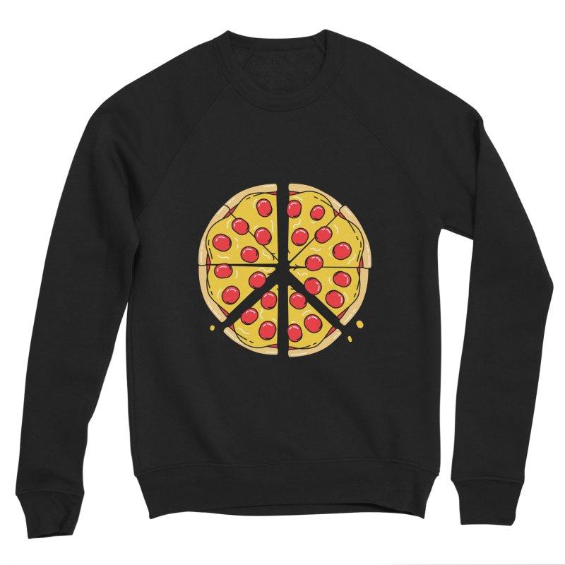 Give Pizza Chance Women's Sponge Fleece Sweatshirt by I am a graphic designer