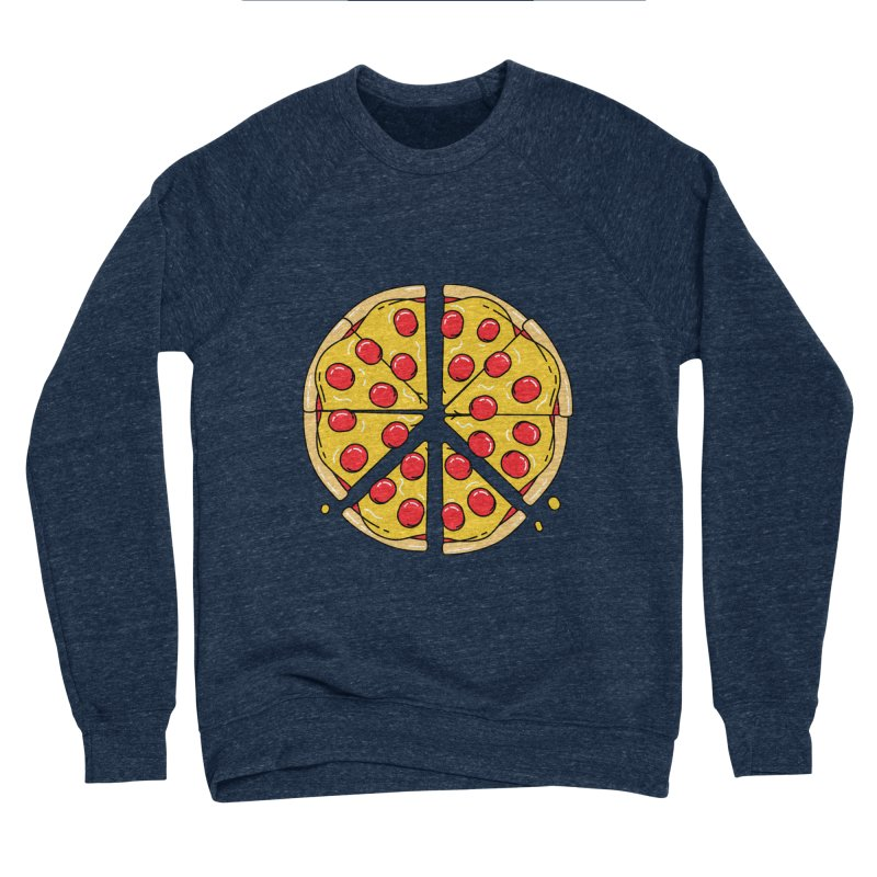 Give Pizza Chance Women's Sponge Fleece Sweatshirt by I am a graphic designer