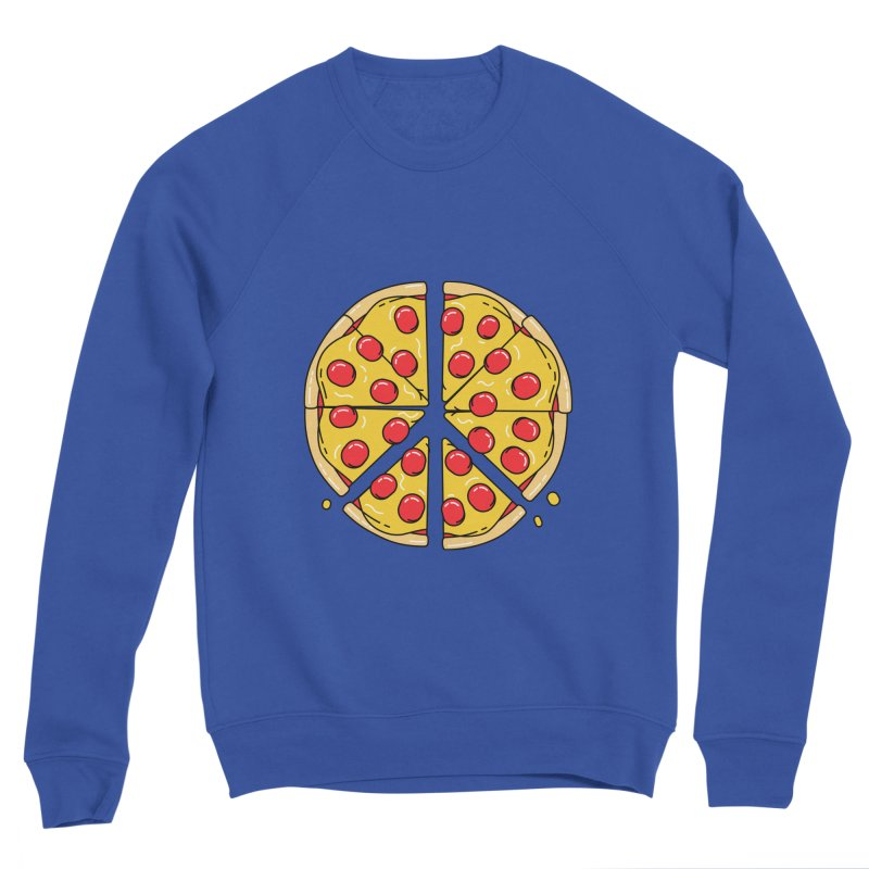 Give Pizza Chance Men's Sponge Fleece Sweatshirt by I am a graphic designer