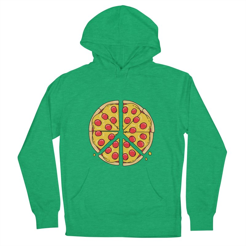 Give Pizza Chance Men's French Terry Pullover Hoody by I am a graphic designer