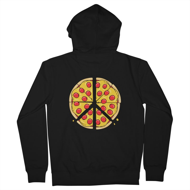 Give Pizza Chance Women's French Terry Zip-Up Hoody by I am a graphic designer