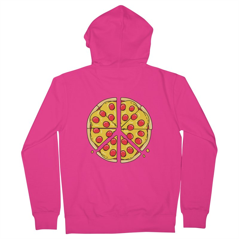 Give Pizza Chance Men's French Terry Zip-Up Hoody by I am a graphic designer