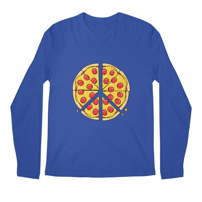 Give Pizza Chance Men's Regular Longsleeve T-Shirt by I am a graphic designer